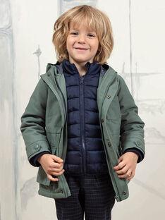 Baby Boy's Khaki Grün Regenmantel und abnehmbare Daunenjacke BAPARAGE / 21H3PGC1IMP604