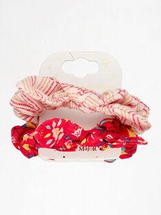 Set mit 2 bedruckten Haargummibändern für kleine Mädchen TIUCHOUETTE / 20E4PFL1ELAF510