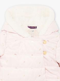 Baby-Mädchen rosa und Blattgold Druck Jumpsuit BISONIA / 21H1BFE1PILD327