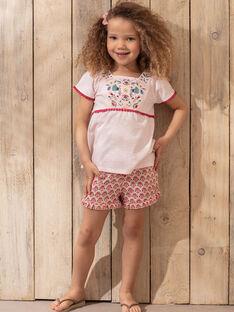 Rosa Shorts Kind Mädchen TIUMETTE / 20E2PFQ1SHOD317