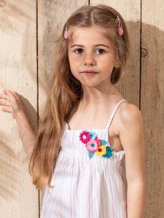 Kleid Mädchen Sergent Major, aus unserer originellen Kollektion, die die Phantasie von Kindern im Alter von 0 bis 11 Jahren anregen soll. TEURETTE / 20E2PFX1ROB001