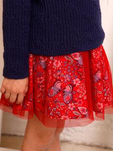 Roter Rock Kind Mädchen ZOJUPETTE / 21E2PFB1JUP050
