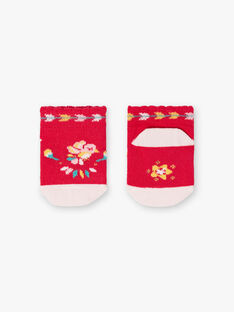 Baby-Socken für Mädchen, fuchsienrot TASUCRE / 20E4BFQ1SOBF510