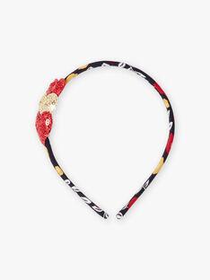 Mädchen-Stirnband mit Blumendruck und Herz-Details BOPIPLETTE / 21H4PFS3TET070