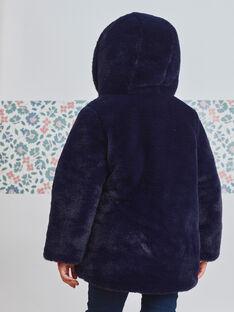 Marineblaue Wendejacke aus Kunstfell für Mädchen BLODOUETTE2 / 21H2PFE1D3E705