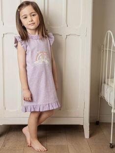 Baby Mädchen mauve Einhorn Nachthemd ZELIKETTE / 21E5PF21CHN328