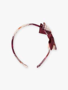 Kariertes Stirnband und Schleife für Mädchen BLITETTE / 21H4PFT5TET808