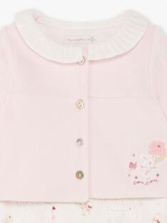 Weiß und rosa Strampler und Weste Geburt Mädchen BONITA / 21H0NF42ENS301