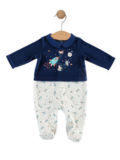 Nachtblauer Baby-Strampler für Jungen SEROBIN / 19H5BGK4GRE717