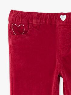 Red PANTS VELOURETTE 1 / 20H2PFG2PAND307