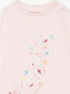Korallenrosa Nachthemd und Leggings Kind Mädchen ZEOIZETTE / 21E5PF12CHND327
