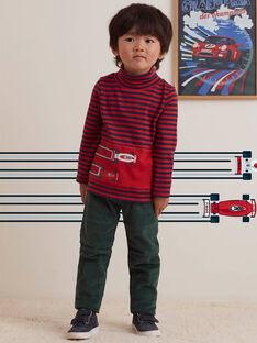 Kind Junge grüne Taschenhose BOATAGE / 21H3PGM1PAN060