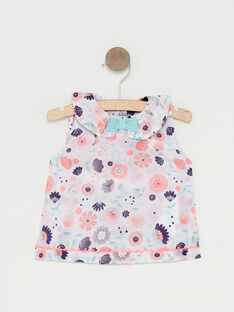 Baby-Bluse mit Blumenprint für Mädchen TAQORINE / 20E1BFP1CHE001