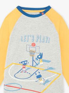 Graues Pyjama-Set für Jungen mit ausgefallenem Druck BIBASKAGE / 21H5PG73PYJ943