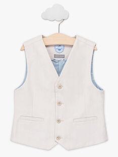 Anzugweste für Jungen, beige TIGILAGE / 20E3PGJ1GSM808