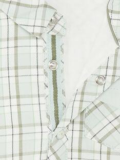 Ausgefallenes Karo<br>•Hemd in Grün und Beige ZAADDY / 21E1BG71CHM009