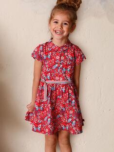 Rotes Kleid Kind Mädchen ZOROBETTE / 21E2PFB2ROB050