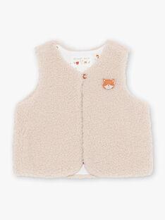 Baby Boy's ecru ärmellose Strickjacke BALEOPOLD / 21H1BGJ1CSM811