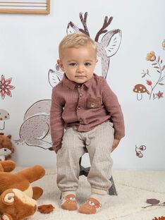 Baby Boy's Beige und Braun karierte Hose BALAUREL / 21H1BGJ1PAN811