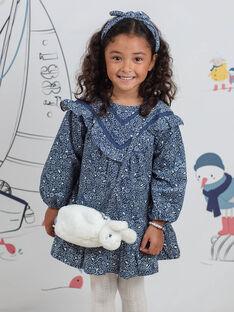 Schwarze Strickjacke für Mädchen mit blumiger Stickerei BYPAGETTE / 21H4PFL1BES001