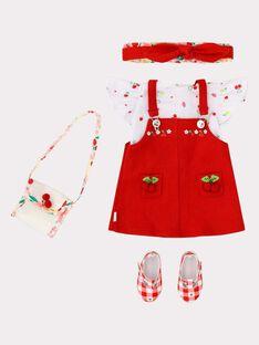 Flißendes Outfit mit Obstdruck für die Puppe Adèle TATENU4 / 20EZENH1TEN050