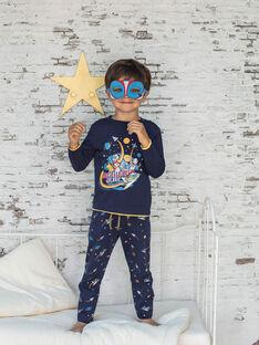 Baby-Jungen dunkelblau T-Shirt, Hose und Maske Pyjama-Set BEFUSAGE / 21H5PG61PYJ717