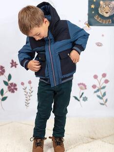 Baby Junge stahlblau Kapuzenparka BAMATAGE / 21H3PGC1PARC202