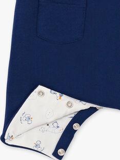 Marineblauer und himmelblauer Overall und Bodysuit für Jungen BOUBAKARI / 21H0CG41ENS070