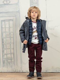 Baby Boy's Grey 2-in-1 Hooded Raincoat BARIMPAGE / 21H3PGC2IMPJ912