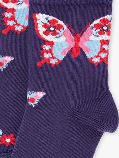 Marineblaue Schmetterlingssocken ZOCHOETTE / 21E4PFB1SOQ216