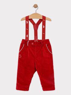 Rote Baby-Hose mit Hosenträgern für Jungen SAWALLY / 19H1BGP1PAN050