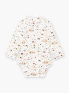 Weißer Body mit hohem Halsausschnitt für Baby-Jungen mit ausgefallenem Druck BASTANLEY / 21H1BGO1BOD000