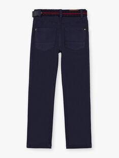 Marineblaue gerade Hose für Jungen mit Gürtel BUXIGAGE1 / 21H3PGB3PAN070
