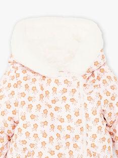 Wendbare Daunenjacke mit Blumendruck für Baby-Mädchen BIPRICILA / 21H1BFD1D3E321
