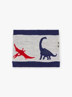 Zweifarbiger Snood mit Dinosaurier-Motiv für Jungen BAFILAGE / 21H4PGD3SNO943