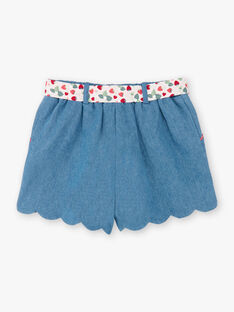 Denim-Shorts mit Gürtel ZONORETTE / 21E2PFJ1SHOP269