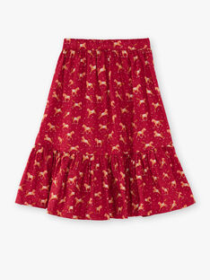 Strawberry rose SKIRT VUSYLVETTE / 20H2PFQ1JUP308