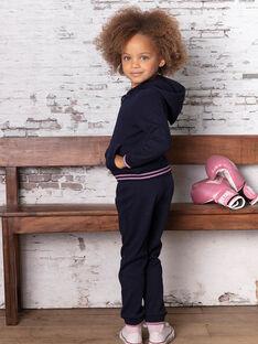 Marineblaue Jogginghose für Mädchen mit Tupfen BROUETTE / 21H2PF32JGB070