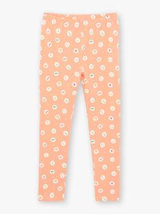 Nachthemd und Leggings Koralle und orange Koralle Leggings Kind Mädchen ZEDORETTE / 21E5PF11CHN419