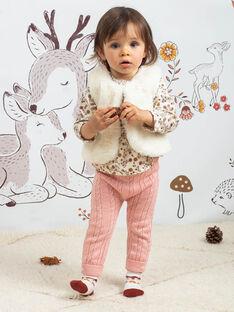Baby Mädchen ärmellose Strickjacke ecru BAIRENE / 21H1BFJ1CSM001