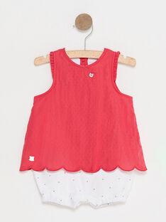 Fuchsienroter Baby-Overall für Mädchen TUVACHATON / 20E0CFR1CBL304