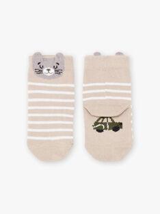 Baby Boy's beige Katze Socken BADAOUH / 21H4BG21SOQA013