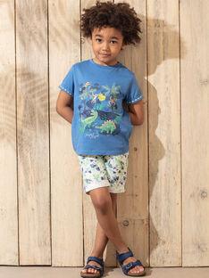 Grüne Bermuda-Shorts mit Blätterdruck Jungen TUWAGE / 20E3PGX4BER001