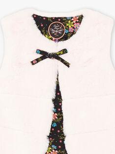 Ärmellose Kunstfell-Strickjacke für Mädchen BRIFURETTE / 21H2PFM1CAR321