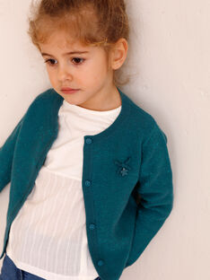 Strickjacke Kind Mädchen ZLADETTE 4 / 21E2PFK4CAR714