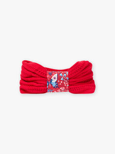 Roter Strickschlüpfer Kind Mädchen BLOZAMETTE / 21H4PFE2SNO308