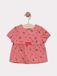 Hemd bedruckt rosa Baby Mädchen SACELINE / 19H1BF31CHE305