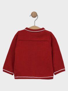 Rote Baby-Weste aus Trikot für Jungen SAWILEY / 19H1BGP1GIL050