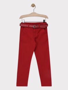 Rote Hose aus Twill mit weichem Griff für Jungen SIREGULAGE / 19H3PGP2PAN719