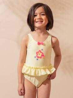 1-teiliger gelb gestreifter Badeanzug Kind Mädchen ZAINAETTE / 21E4PFR2D4KB102